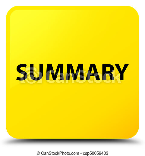 Summary yellow square button - csp50059403