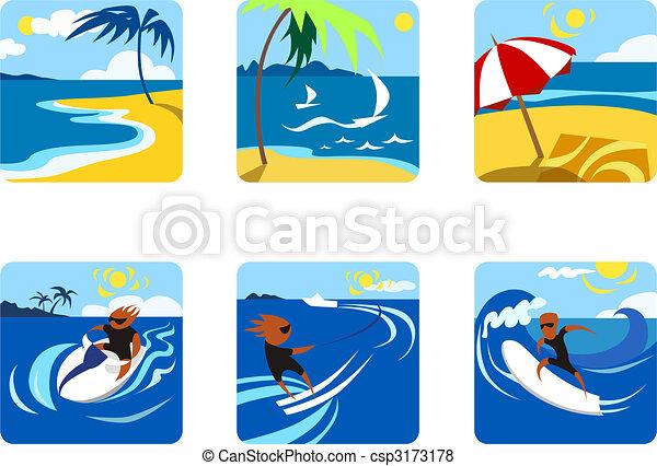 Summer Activities Ikon Illustration
