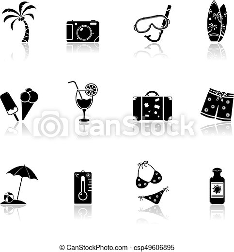 Summer and Beach Icons - csp49606895