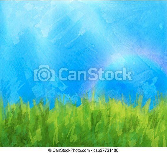 Summer background with paint daubs - csp37731488