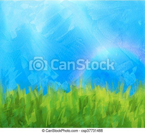 Summer background with paint daubs - csp37731488