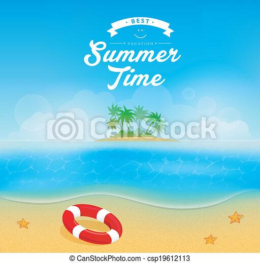 vector illustration eps 10 of summer backgrounds