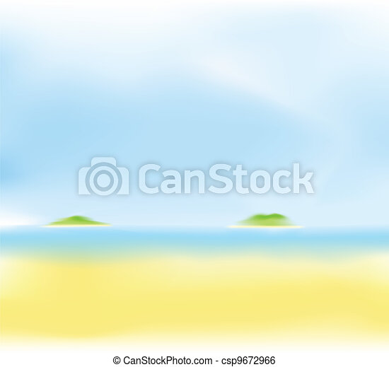 summer beach blur background - csp9672966