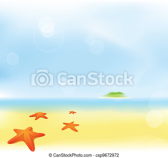 summer beach blur background - csp9672972