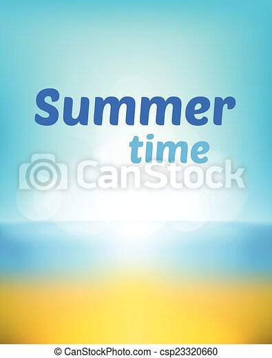 summer beach  bokeh background - csp23320660