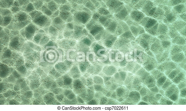Summer Beach Water Top View Stock Illustration