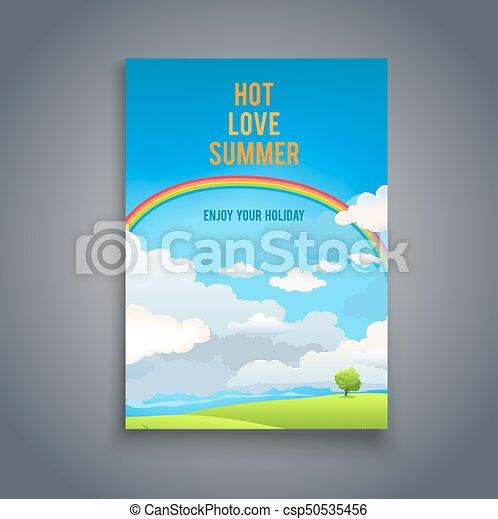 Summer Blank With Rainbow