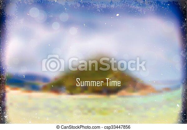summer blur background - csp33447856