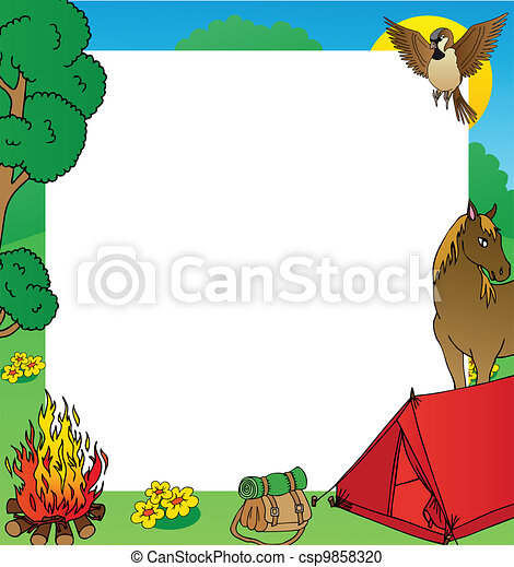 Summer camping frame - csp9858320