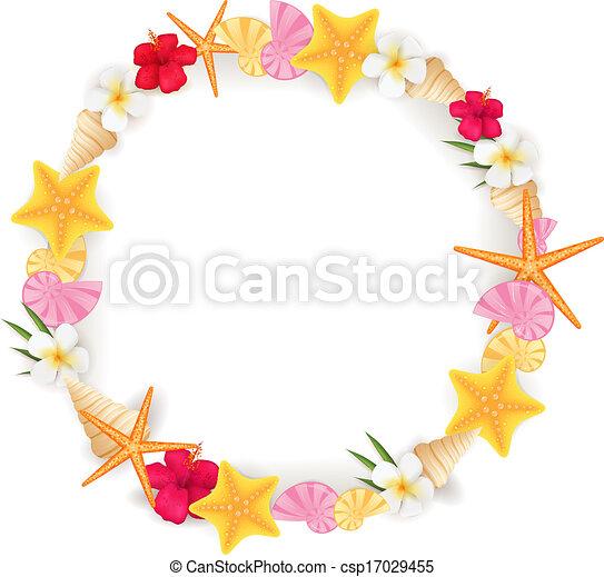 Summer circle frame - csp17029455
