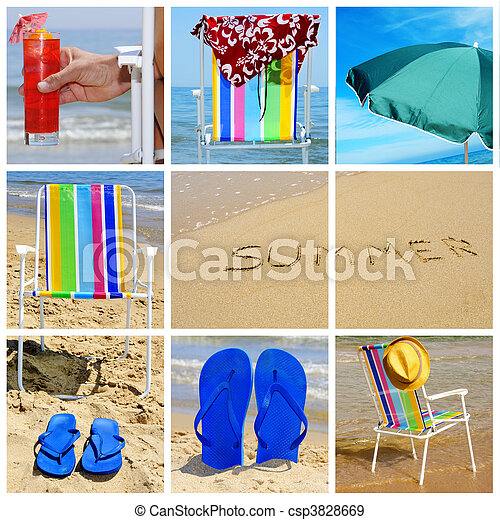 summer collage - csp3828669