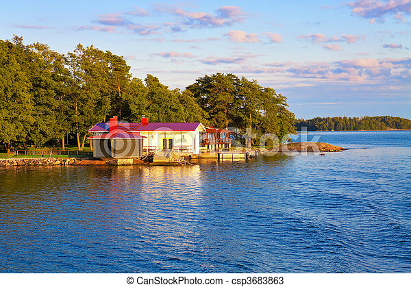 Summer Cottage In Finland Stock Photo