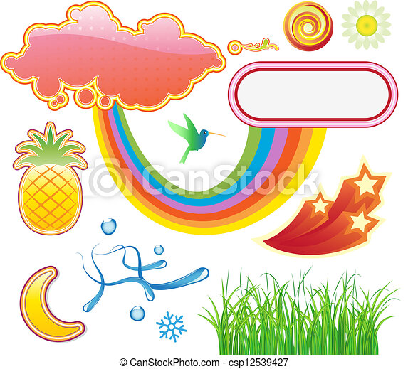 summer design elements - csp12539427