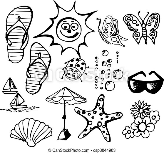 Summer Doodle Elements