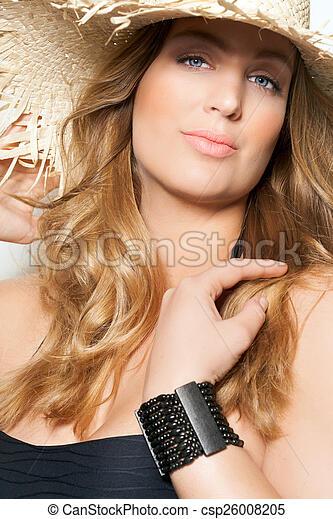 117087db170 Summer fashion plus. Beautiful plus size model wearing swimsuit and ...