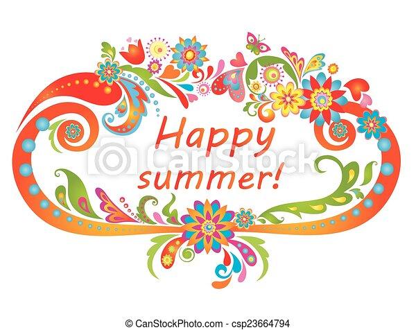 summer!, feliz - csp23664794