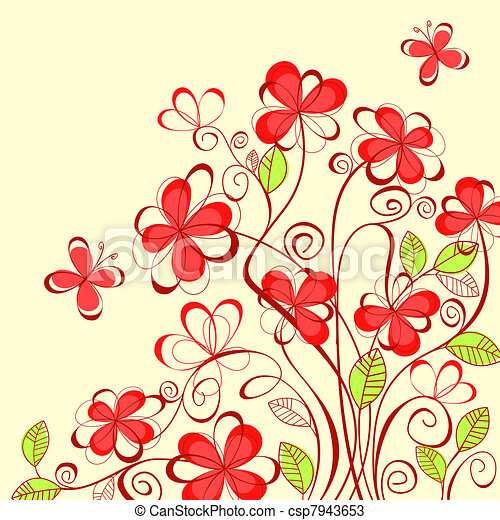 Summer Flowers Background Abstract Flower Background With