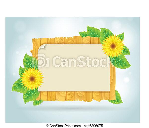 Summer frame  - csp6396075