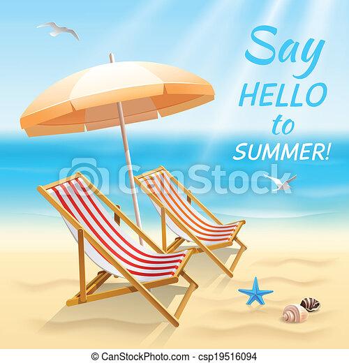Summer holidays background wallpaper - csp19516094