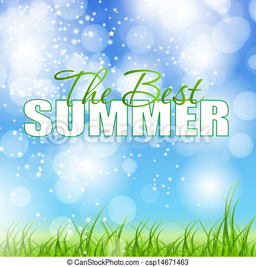 summer holidays poster vector illustration - csp14671463