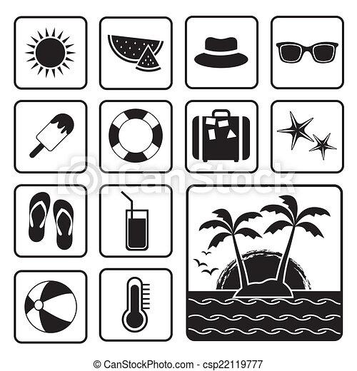 Summer icon - csp22119777
