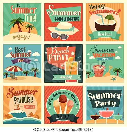 Summer icons - csp26439134