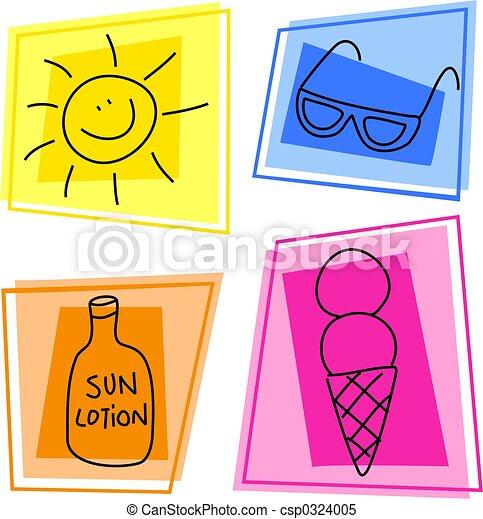 summer icons - csp0324005