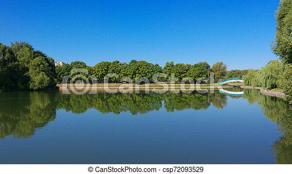 summer in city park - csp72093529