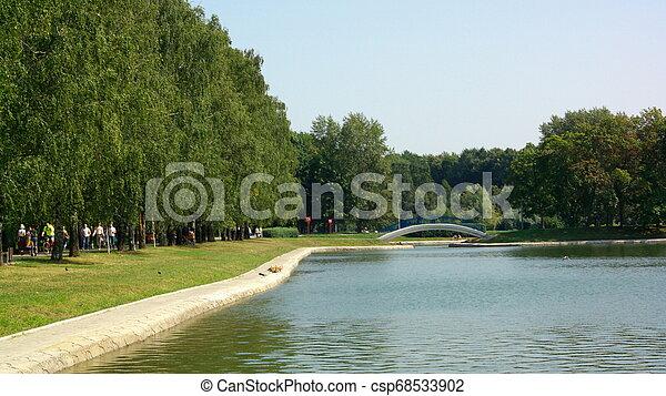 summer in city park - csp68533902