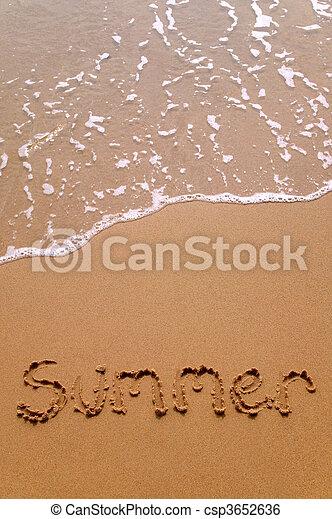 Summer in sand vertical - csp3652636