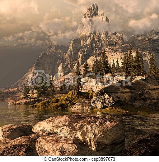 Summer In The Sierra Nevada  - csp3897673