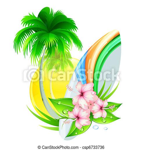 summer insignia - csp6733736