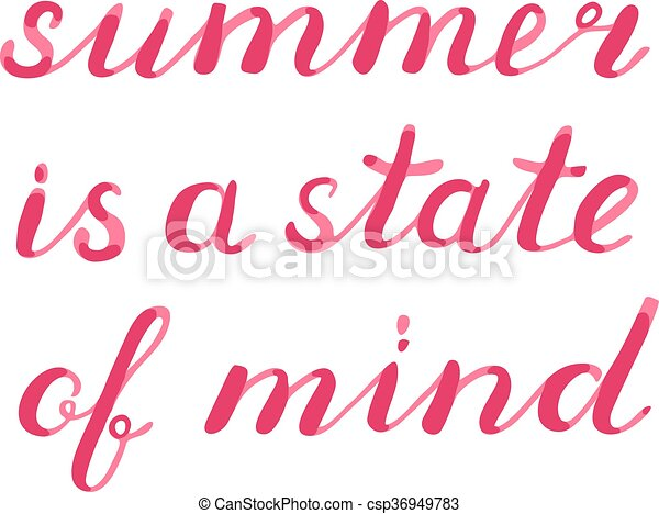 Summer is a state of mind lettering. - csp36949783
