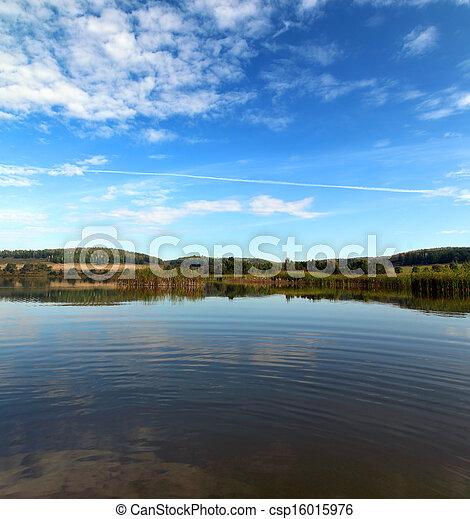 summer lake landscape - csp16015976