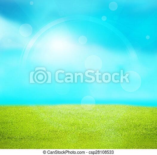summer landscape background - csp28108533