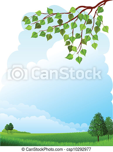 Summer landscape - csp10292977