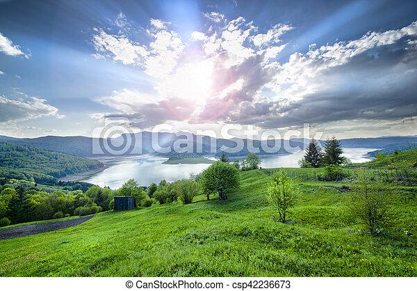 summer landscape in mountain - csp42236673
