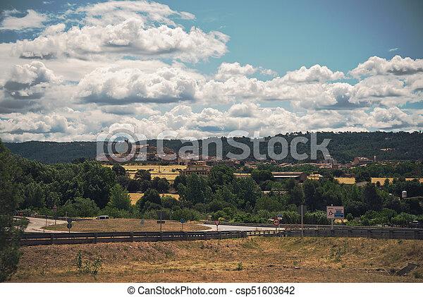 Summer landscape in Spain - csp51603642