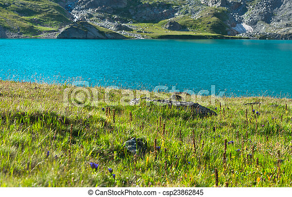 Summer landscape in the mountains - csp23862845