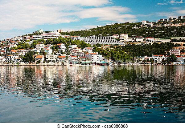 Summer landscape of Dalmatian coast, Croatia - csp6386808
