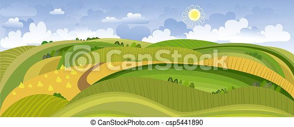 Summer Landscape Panorama - csp5441890