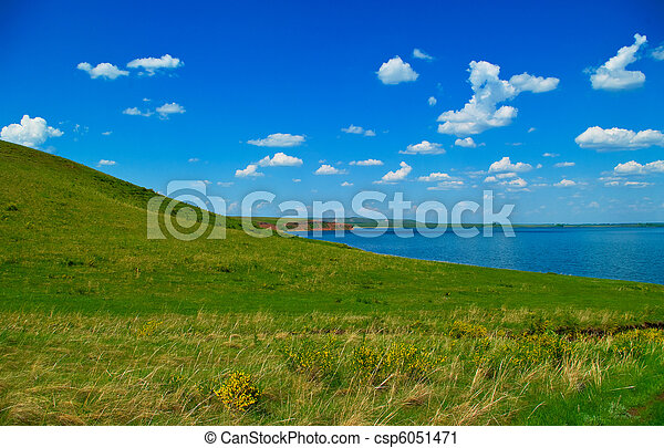 Summer landscape - csp6051471