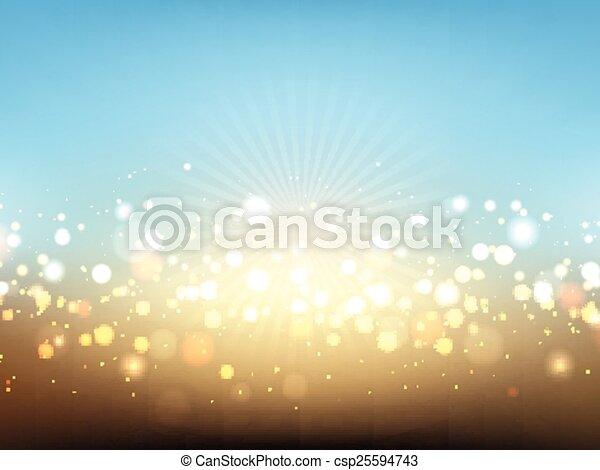 Summer lights background - csp25594743