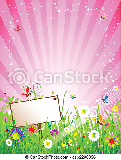 Summer meadow beautiful - csp2298836