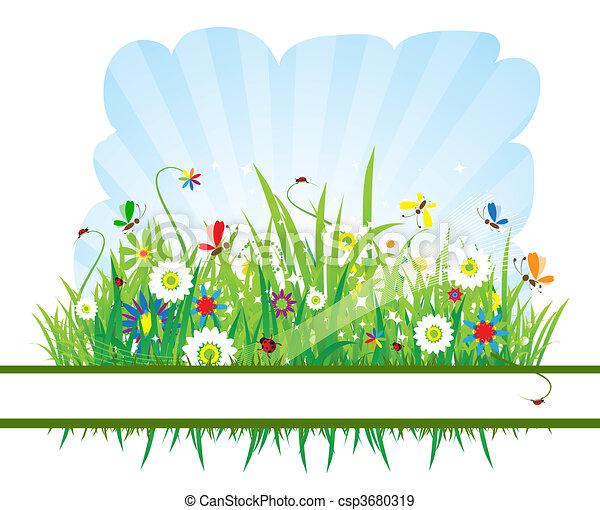 Summer meadow beautiful - csp3680319