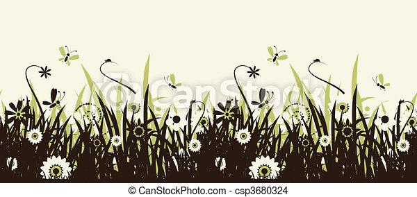 Summer meadow beautiful - csp3680324