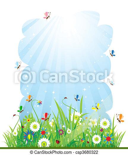 Summer meadow beautiful - csp3680322