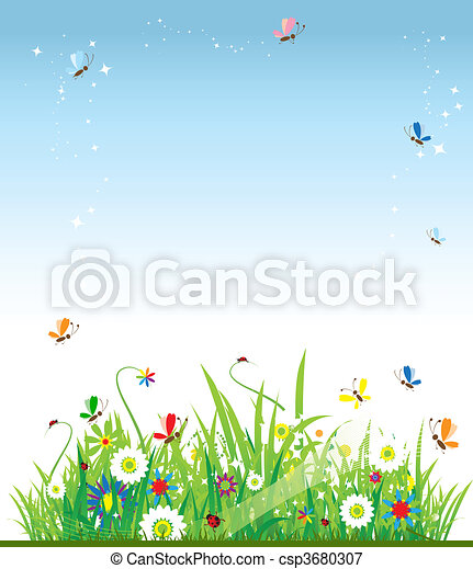 Summer meadow beautiful - csp3680307