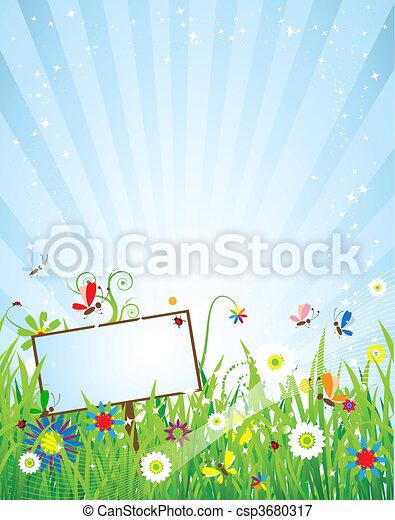Summer meadow beautiful - csp3680317