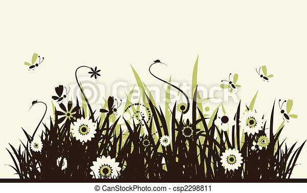 Summer meadow beautiful - csp2298811